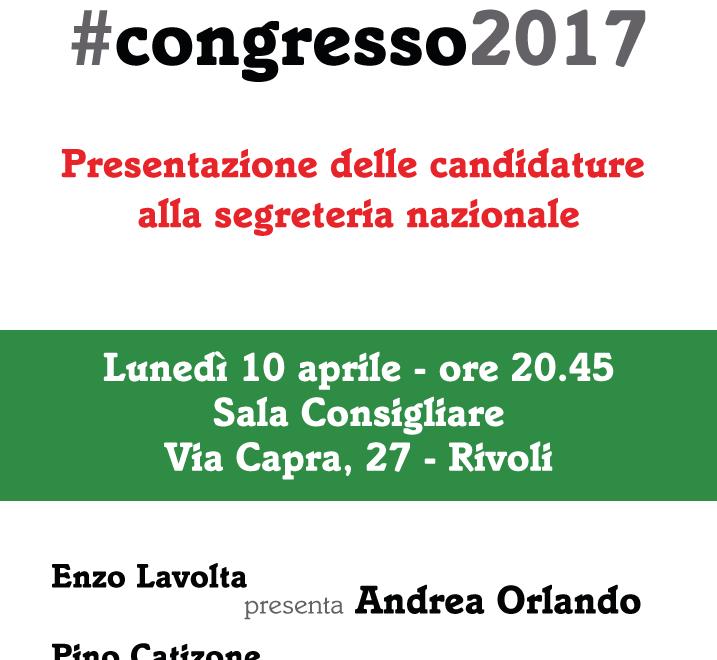 Congresso 2017 – iniziativa 10 aprile presentazione alla Città delle tre mozioni.