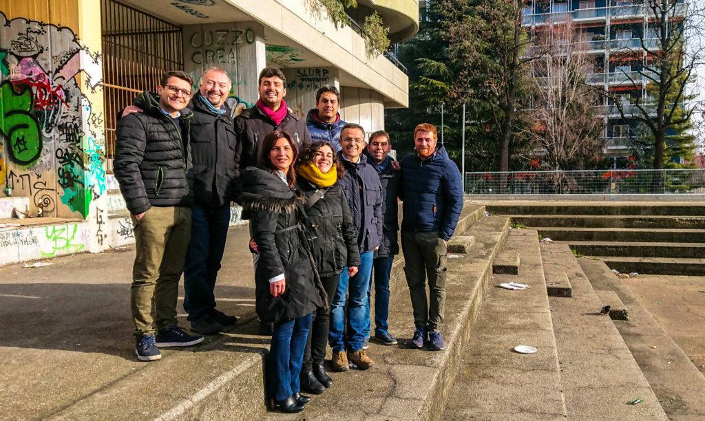 Il candidato sindaco del PD con una squadra di giovani a Cascine Vica