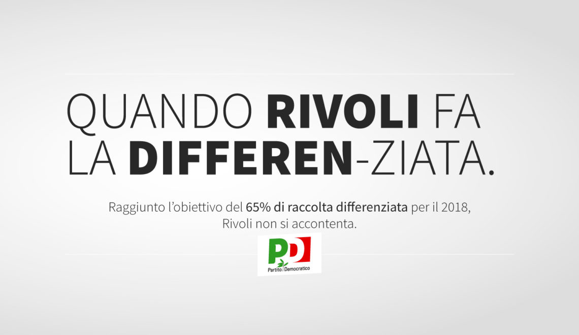 Quando Rivoli fa la Differenziata - 65% di Raccolta Differenziata